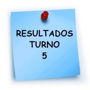 RESULTADOS TURNO 5