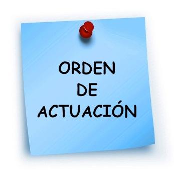 ORDEN DE ACTUACIÓN